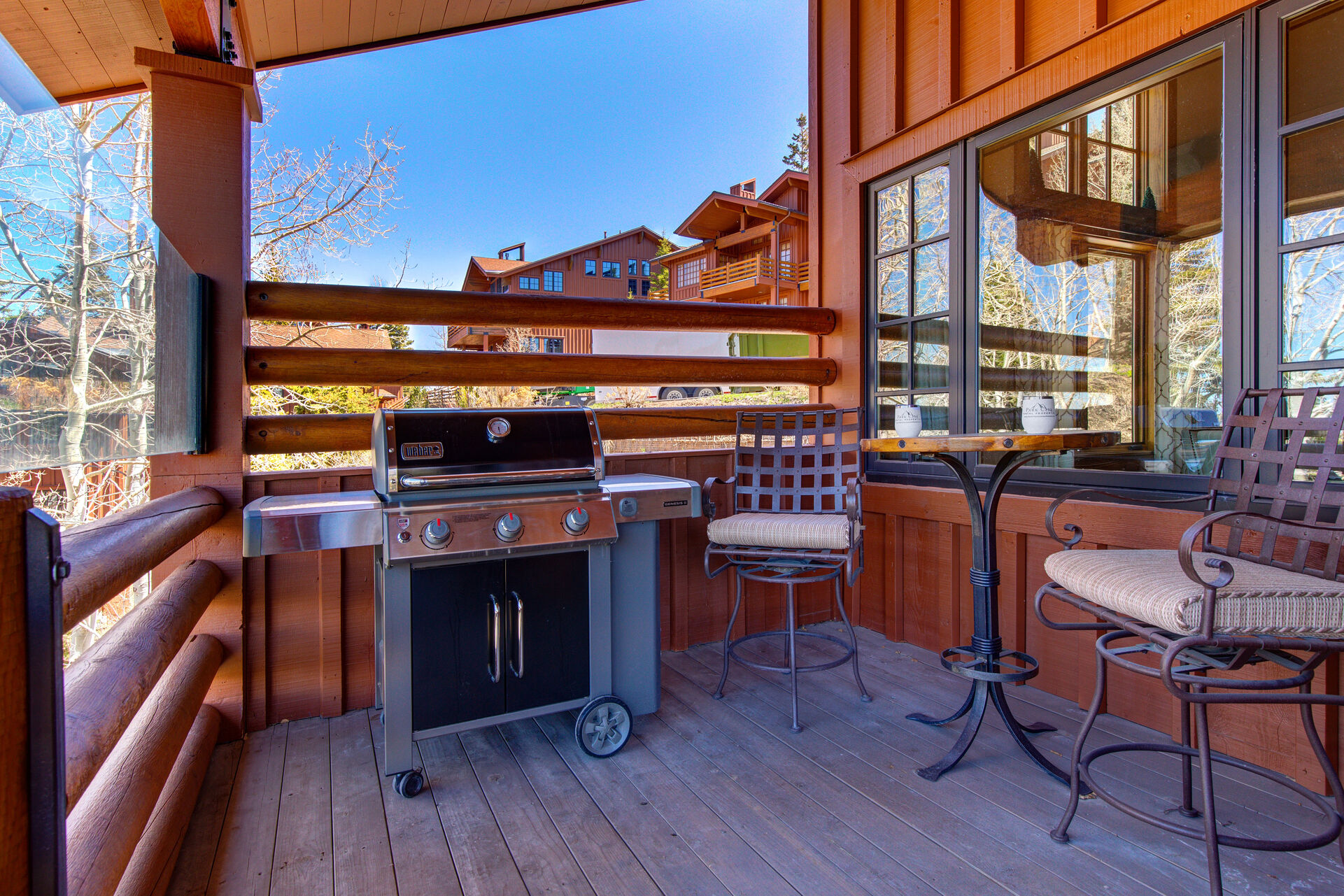 Main Level Deck with a New BBQ and Bistro Table/Chairs