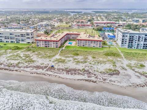 The Spanish Main complex is right on the beach and very close to the downtown Cocoa Beach.