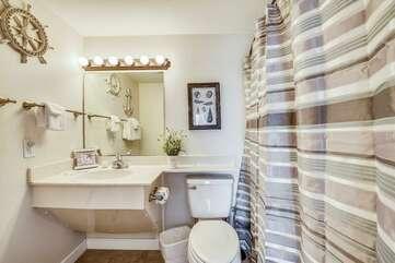 Second bathroom adjacent to the Queen bedroom