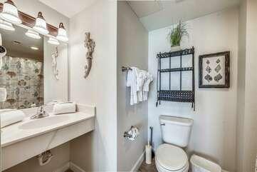 Master bathroom adjacent to the King bedroom