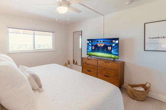 Guest bedroom TV.
