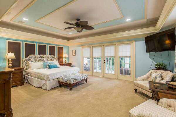 Yet another beautiful and spacious bedroom with a King bed to cozy into at night