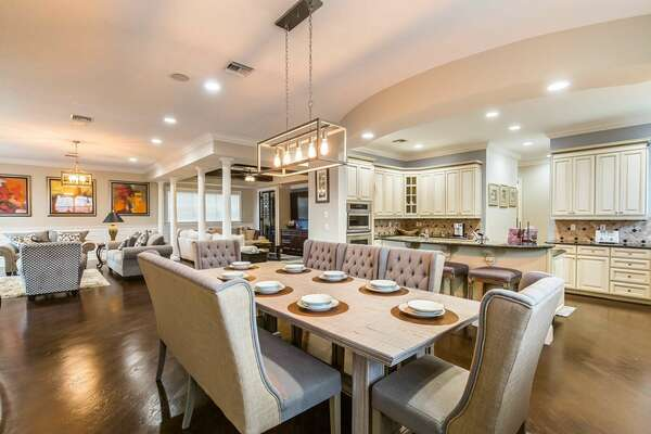 An open concept living area where your family can enjoy hanging out