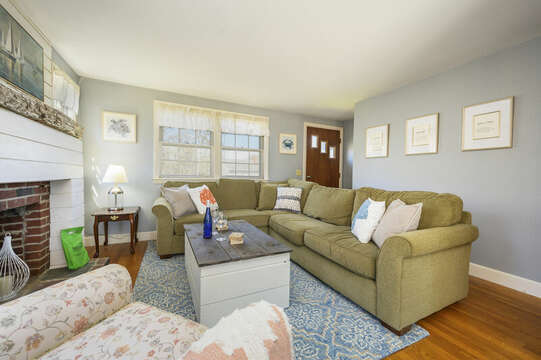 Living room with comfy sectional - - 7 Cutter Lane West Yarmouth Cape Cod - New England Vacation Rentals