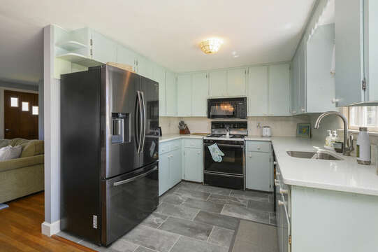 Fully equipped kitchen with dishwasher, microwave and K-cup coffee pot - 7 Cutter Lane West Yarmouth Cape Cod - New England Vacation Rentals