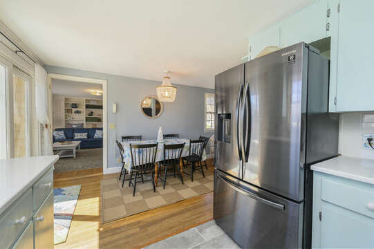 Double door fridge with more than enough room for snacks- 7 Cutter Lane West Yarmouth Cape Cod - New England Vacation Rentals