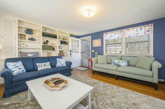TV room as you enter the home - 7 Cutter Lane West Yarmouth Cape Cod - New England Vacation Rentals