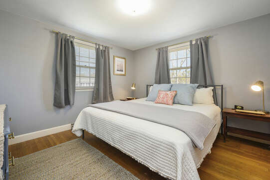 Bedroom #2 - King Bedroom with soothing grey/blue color palette - 7 Cutter Lane West Yarmouth Cape Cod - New England Vacation Rentals