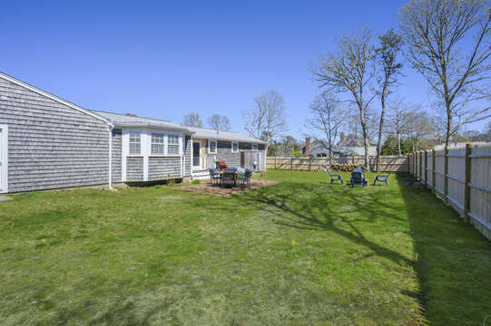 Large fenced in backyard - safe for the littles and the pup! - 7 Cutter Lane West Yarmouth Cape Cod - New England Vacation Rentals