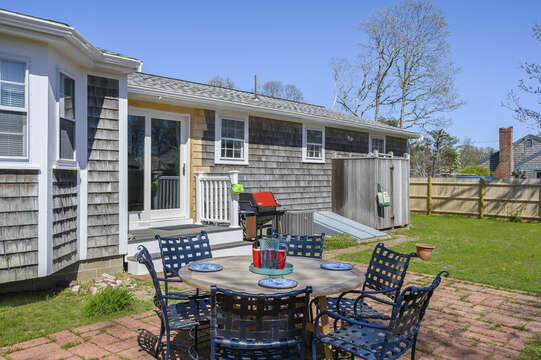 Patio and grill - great for BBQs with the family - 7 Cutter Lane West Yarmouth Cape Cod - New England Vacation Rentals