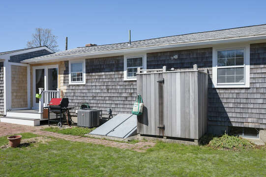 Outdoor shower - a Cape Cod tradition! - 7 Cutter Lane West Yarmouth Cape Cod - New England Vacation Rentals