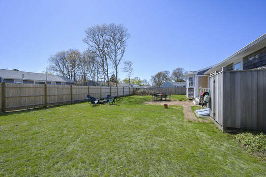 Fenced in yard - 7 Cutter Lane West Yarmouth Cape Cod - New England Vacation Rentals