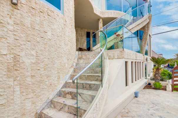 South Side Stairs to Front Door Entrance