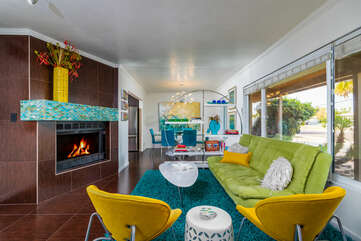Mid-Century Decor and Tile Flooring Throughout