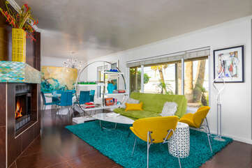 Living Room - Bright and Cheerful Space
