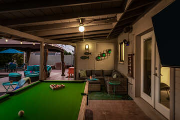 Outdoor Pool Table and Smart TV