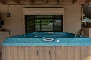 Private Hot Tub on Covered Patio