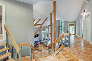 Welcome In!! Butlers Bliss is a modern feel nestled on Lake Norman.