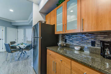 Stainless Appliances, Granite Counters and Ample Cabinet Space