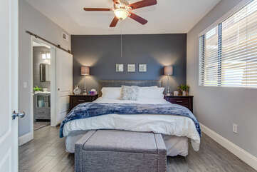 Master Bedroom with a King Bed and Natural Light