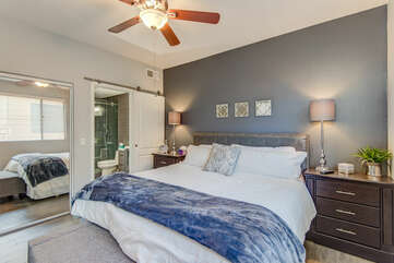 Master Bedroom with a King Bed and En Suite