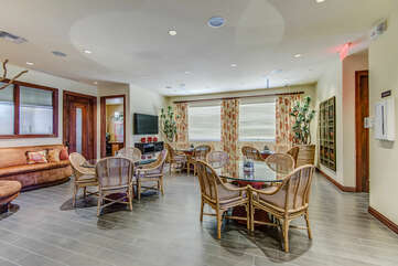 Dining and/or Game Tables and Chairs with TV