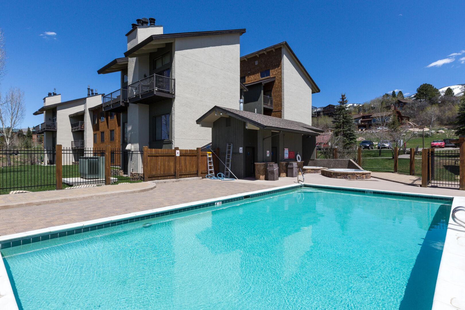 Community pool at The Rockies