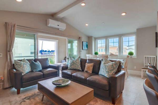 Living Room w/ Balcony for Indoor/Outdoor Living