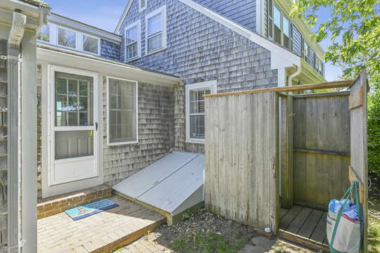 Outdoor shower - A Cape Cod tradition -  229 Scatteree Road Chatham Cape Cod - New England Vacation Rentals Vacation Rental