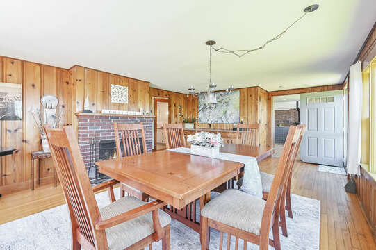 Large table - anyone for a game of spoons? - 229 Scatteree Road Chatham Cape Cod - New England Vacation Rentals Vacation Rental