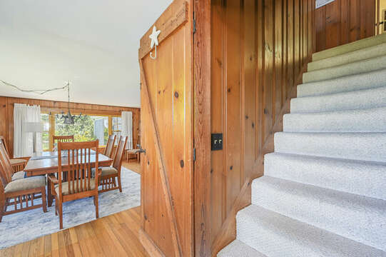 Stairway to 3 bedrooms and office - 229 Scatteree Road Chatham Cape Cod - New England Vacation Rentals Vacation Rental