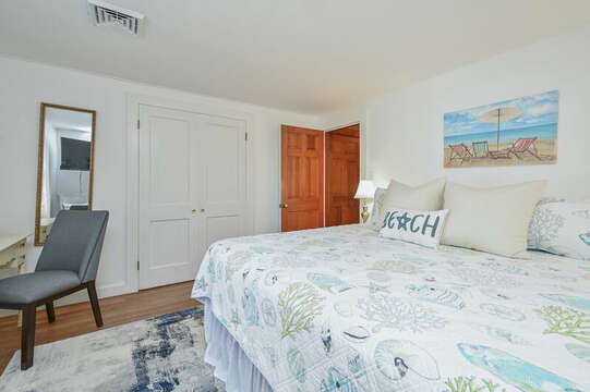 Main Floor Bedroom 1 with King Bed - 229 Scatteree Road Chatham Cape Cod - New England Vacation Rentals Vacation Rental
