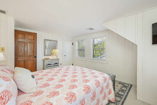 Upstairs Bedroom #2 with Queen Bed - 229 Scatteree Road Chatham Cape Cod - New England Vacation Rentals Vacation Rental