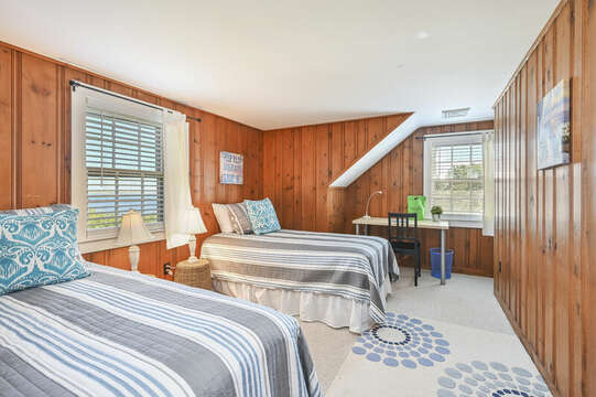 Upstairs Bedroom #4 with 2 twi beds  - 229 Scatteree Road Chatham Cape Cod - New England Vacation Rentals Vacation Rental