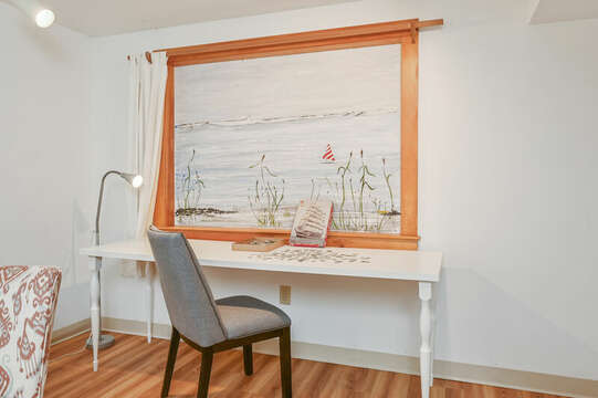 Lower Level Family Room - 229 Scatteree Road Chatham Cape Cod - New England Vacation Rentals Vacation Rental