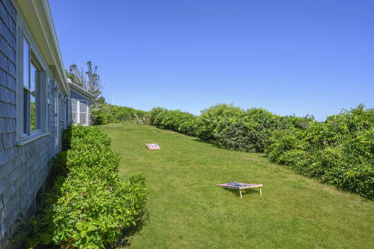 View of Back of Home - Corn Hole! - 229 Scatteree Road Chatham Cape Cod - New England Vacation Rentals Vacation Rental