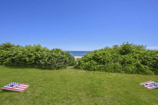 Yard and path to beach - 229 Scatteree Road Chatham Cape Cod - New England Vacation Rentals Vacation Rental