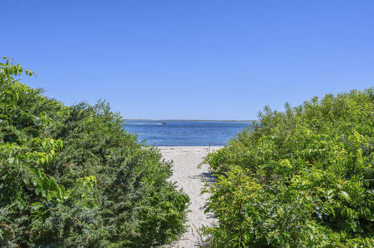 Path to beach - 229 Scatteree Road Chatham Cape Cod - New England Vacation Rentals Vacation Rental