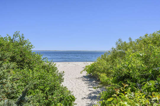 Path to ocean from back yard - 229 Scatteree Road Chatham Cape Cod - New England Vacation Rentals Vacation Rental