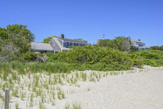 View of back of the home from the beach - 229 Scatteree Road Chatham Cape Cod - New England Vacation Rentals Vacation Rental