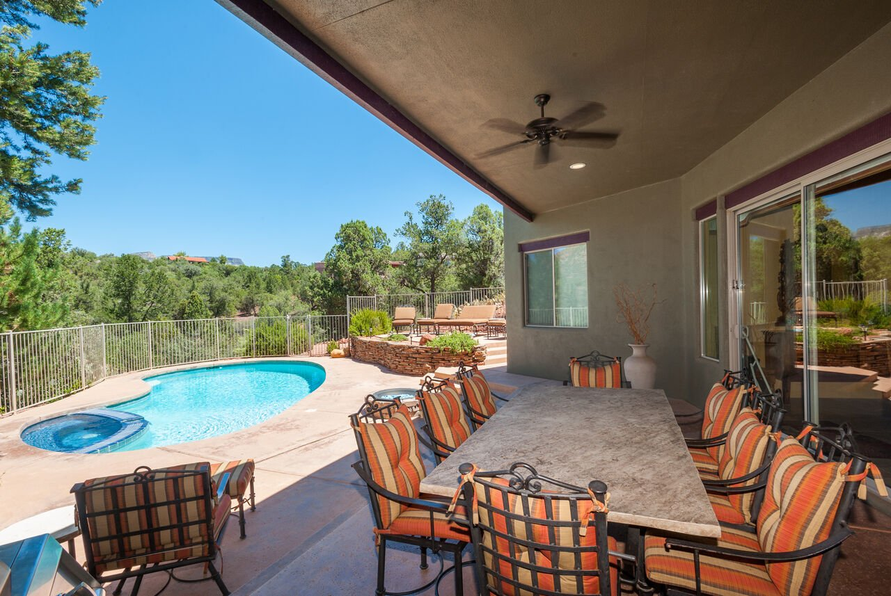 Covered Patio and Private Pool and Hot Tub