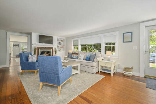 Entry and Living room at-21 Pine Street- Harwichport- Cape Cod- New England Vacation Rentals
