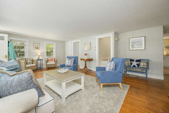Living Room and Dining Room access-21 Pine Street- Harwichport- Cape Cod- New England Vacation Rentals