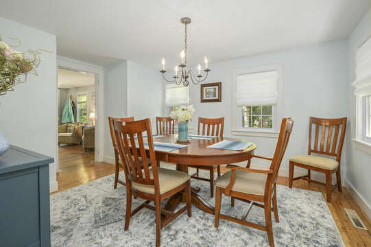 Dining room with seating for 6-21 Pine Street- Harwichport- Cape Cod- New England Vacation Rentals