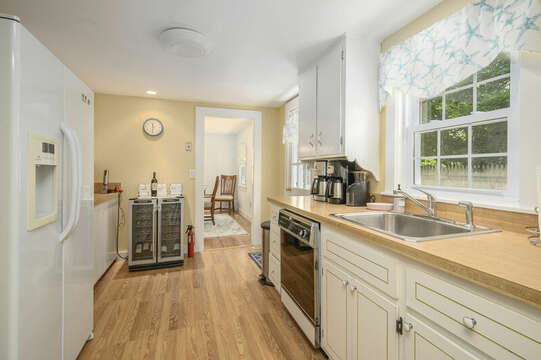 Chill your favorite wines in the wine fridge at-21 Pine Street- Harwichport- Cape Cod- New England Vacation Rentals