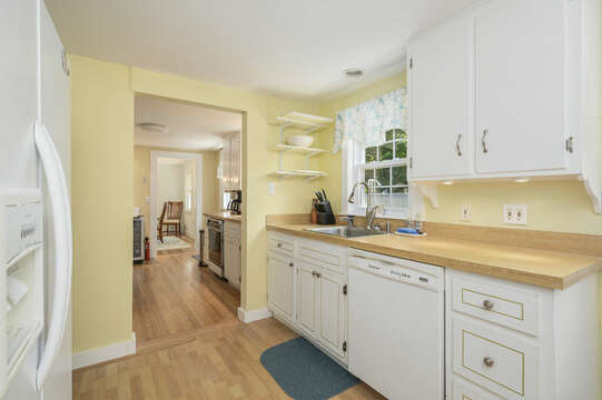 Galley style Kitchen at-21 Pine Street- Harwichport- Cape Cod- New England Vacation Rentals