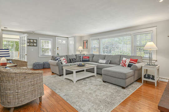 Family Room at-21 Pine Street- Harwichport- Cape Cod- New England Vacation Rentals