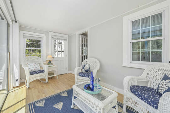 Sun room with ample seating-21 Pine Street- Harwichport- Cape Cod- New England Vacation Rentals