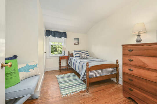 Bedroom #4 with Twin bed , dresser and closet-21 Pine Street- Harwichport- Cape Cod- New England Vacation Rentals