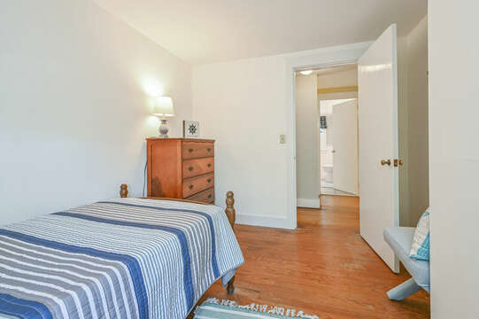 Bedroom #4 with Twin Bed and dresser-21 Pine Street- Harwichport- Cape Cod- New England Vacation Rentals